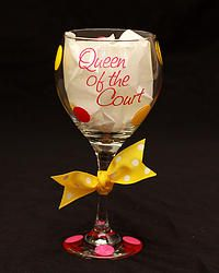 Queen of the Court Glass