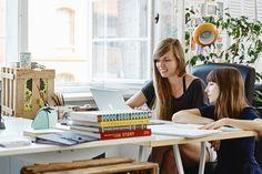 Etsy Inspiring Workspaces: Carolina Búzio and Theresa Grieben at their Berlin studio. Photo by Zoë Noble