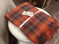 "Rust Spice Plaid Rectangular Tablecloth 108""  $75.00"