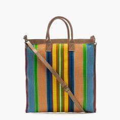 christian peau® striped shoulder net bag : women totes