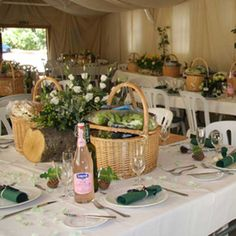 Cute table decor for wine country picnic
