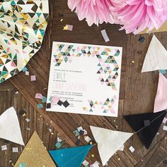 A triangle baby shower theme inspired by the #ohjoyfortarget fall collection! (via @ jennycookies' instagram)