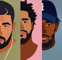 Drake, J Cole and Kendrick Lamar  Produced by Timbo, Dre, Kanye, 40 and Pharrell, too.
