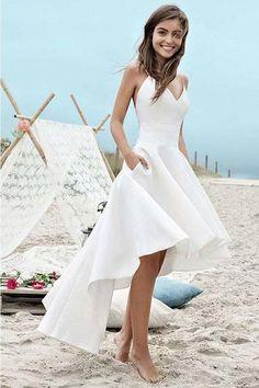 High low beach wedding dress