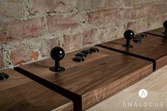 Wooden Analogue Neo-Geo arcade stick