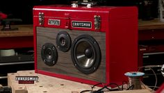 Toolbox Boombox - also building one out of an old suitcase, but this is totally awesome.
