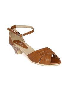 cbdb10b2722 Brown Block Heel Sandals Brown Block Heel Sandals