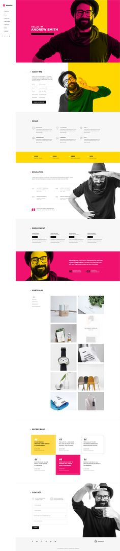 Brando #Responsive & #Multipurpose #OnePage #Template For Personal #Resume by #ThemeZaa http://goo.gl/VGP5GC in OnePage Website Templates