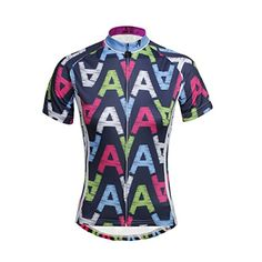 Paladin Cycling Jersey Women Short Sleeve Letter A Pattern Bike Shirts Size  L   See this d70459fc8