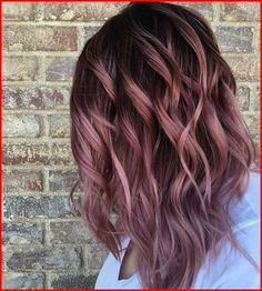 Rose Gold Ombre Hair Color Ideas Rose Gold Ombre Hair Color Ideas, Somewhere between full-on pink, strawberry blonde, and the redhead is our new favorite color: rose gold hair. Whoever figured out that shimmery gold a…, Hair Colour Style - Unique World Of Hot Hair Colors, Ombre Hair Color, Cool Hair Color, Balayage Hair Colour, Blonde Color, Rose Gold Hair Colour, Rose Gold Balayage Brunettes, Unique Hair Color, Blonde Pink