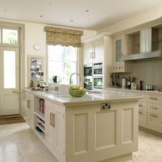 Kitchen Whie Travertine Floor | Cream kitchen | Kitchens | Kitchen ideas | Image | housetohome.co.uk