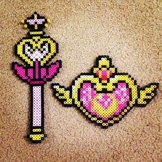 Sailor Moon perler beads by lleahlinkk