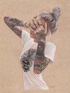 | Jennifer De Boeur | Colour pencil | I like the bold use of tan paper and level of detail |