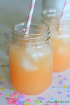 Pineapple Pink Lemonade Soda {1 Liter Sprite 1 cup Pink Lemonade mix 1 can (48 oz.) Dole Pineapple Juice}