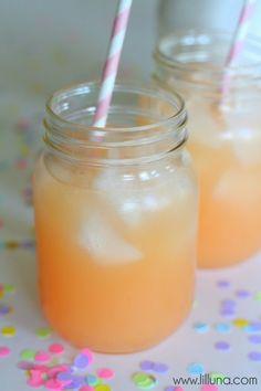 Pineapple Pink Lemonade Soda {1 Liter Sprite 1 cup Pink Lemonade mix 1 can (48 oz.) Dole Pineapple Juice}