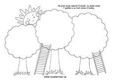 Jesenné pracovné listy - kreslíme ovocie na stromy