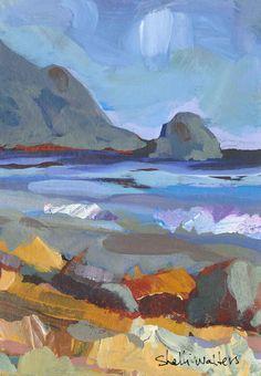 Oregon Coast Original Painting by ShelliWalters on Etsy