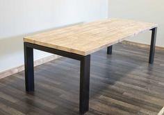 Tafel Hout Staal : Tafels hout staal google zoeken tafels staal