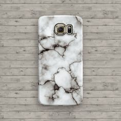 Marble Galaxy S6 Case White Marble Samsung Galaxy by ByKustomKase