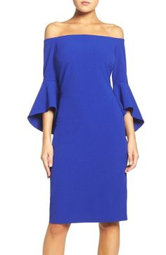 Chelsea28 Off the Shoulder Stretch Sheath Dress available at #Nordstrom