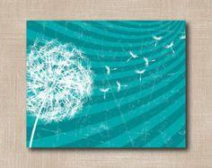 Dandelion Instant Download Art Print / DIY Printable Art / Distressed Dandelion Print / Home / Wall Decor / P96