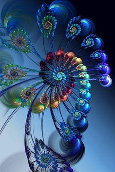 Fractal art is a type of digital art that's considered new media. Fractal Design, Fractal Images, Fractal Art, Wow Art, Psychedelic Art, Sacred Geometry, Fantasy Art, Abstract Art, Abstract Landscape