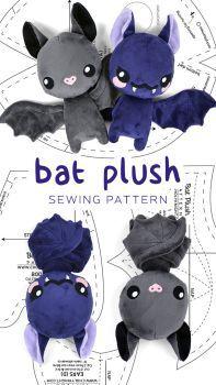 Bat Plush Pattern by SewDesuNe