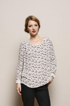 blouse Voila ecru 100% viscose crepe - chemise Woman - Des Petits Hauts