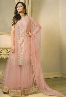 Embroidered Net Pakistani Suit in Baby Pink Pakistani Suits 7c60640d4