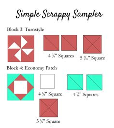 Simple Scrappy Sampler 3-4