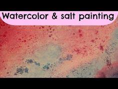 DIY watercolor and salt painting