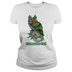 (Top Tshirt Fashion) Cannabis Owl at Tshirt Family Hoodies, Tee Shirts