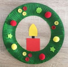 Wreath for the littles to hang on tree – Weihnachtsbasteln Mit Kindern Kita - . - Wreath for the littles to hang on tree – Weihnachtsbasteln Mit Kindern Kita – Water W - Preschool Christmas Crafts, Christmas Arts And Crafts, Winter Crafts For Kids, Christmas Projects, Kids Christmas, Holiday Crafts, Christmas Crafts Paper Plates, Christmas Crafts For Kids To Make At School, Christmas Wreaths