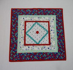 Feedsack Quilted Table Topper Table Runner by ForgetMeNotQuilteds