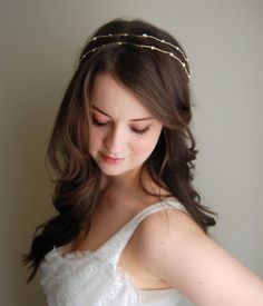 Bridal Hair Vine Wedding Hair Accessory Gold and by BlueBrocade, $60.00