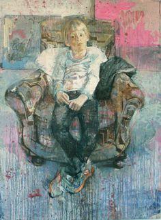 "Saatchi Art Artist: christos tsimaris; Oil 2013 Painting ""max in the studio"""