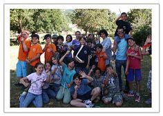 Campi estivi per ragazzi. Foto di gruppo.