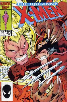 The Uncanny X-Men #213 - one of the best Wolverine/Sabretooth fights EVER!!!
