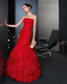 Vestidos de fiesta - red rojo red. Rosa Clará 2013