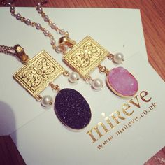 Black or pink ??? Pearl or gold chain??? Customise your way :))) Necklaces from our tribal muse collection in collaboration with @mehtaphor_by_siddhi . #mireve #mirevexmehtaphor #druzy #rosequartz #tribalmuse #semiprecious #handcraftedjewelry #necklace #statementnecklace #london #mumbai #gift #jewelrygram #fashrev #lfw #ijw #custommade #fblogger #jeweladdict #bohobling #fashionforward contact info@mireve.co.uk
