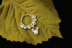 Nose Ring Stud, Nose Rings, Crochet Earrings, Jewellery, Pearls, Metal, Silver, Jewels, Jewelry Shop