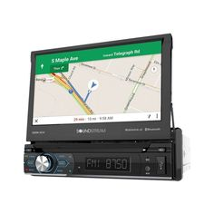 """Soundstream - 7"""" - Built-In GPS - CD/DVD - Built-In Bluetooth - In-Dash Deck with Remote - Black, VRN-74HB"""