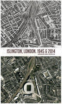 Islington, London. Thanks to @arsenalofka for photo. Interesting!
