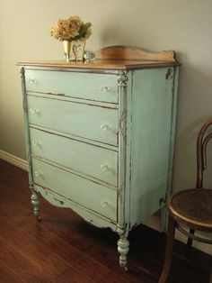 Painted, vintage furniture is so easy to live with- P.S. Vintage find shoppers! While yards sales and flea markets are downright awesome...this market is becoming popular with the http://trend...so, if you have an opportunity to shop at yard sales/etc. DO IT. There are only so much genuine vintage and dirt cheap pieces out there!