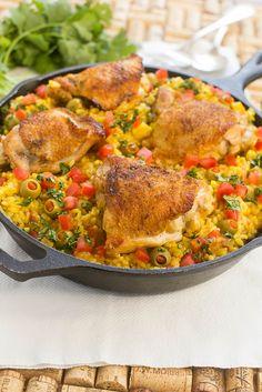 Spanish Chicken with Rice; Arroz con Pollo