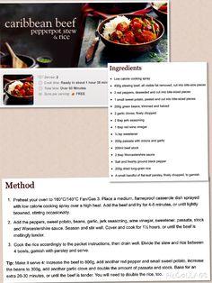 Caribbean Beef Pepper-pot Stew