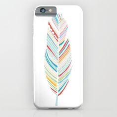 Lone Feather iPhone & iPod Case by Morgana Lamson