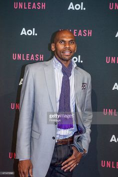 99488ce3639a Former NBA player Jerry Stackhouse at AOL Newfront 2015 at 4 World.