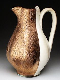 julia galloway art   Julia Galloway Porcelain Pitcher with Gold and Silver Luster at ...