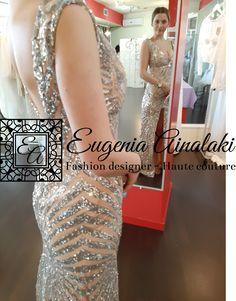 Χειροποίητο αστραφτερό φόρεμα με κεντημένη παγιέτα. #eugeniaainalaki #wedding #bridaldress #weddingdress #greekdesigners #weddinggown #handmade #hautecouture #weddingoutfit #laceweddingdress #bridaloutfit #lace #bridaldesigner #tailirmade #outfit #promdress #sparklingdress Formal Dresses, Fashion Design, Haute Couture, Dresses For Formal, Formal Gowns, Formal Dress, Gowns, Formal Wear